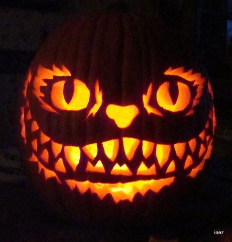 cheshire cat alice in wonderland pumpkin halloween pumpkins halloween stuff - Halloween Stuff