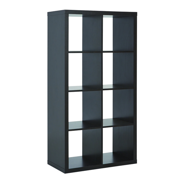 Style, practicality and organisation are a breeze with the popular Matrix 8 Cube Storage Shelf. Designed to coordinate with an array of cube inserts, drawers and baskets to suit your taste. Available in a choice of two great colours; white or black/brown. Price $99.