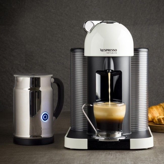 The Nespresso Vertuoline offers incredible style and function. The VertuoLine's unique CENTRIFUSION technology ensures that you get every delicious drop of flavour from Nespresso capsules. Capsules spin of 7,000 times per minute, blending the coffee grounds with hot water to produce the perfect crema to compliment your favourite coffee flavour.