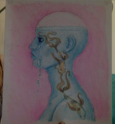 water colour pencil-my first attempt t drawing glass