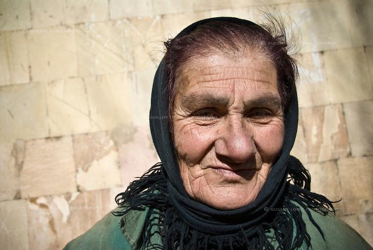 Portrait of a rubbish collector in Kapan, Armenia