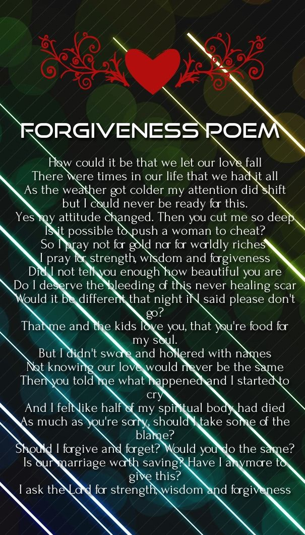 please forgive me love poems