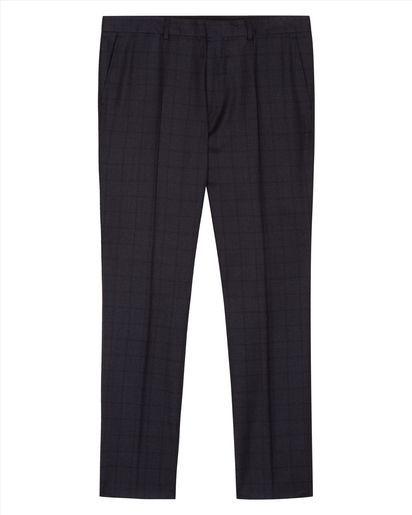 Wool Shadowcheck Slim Trousers