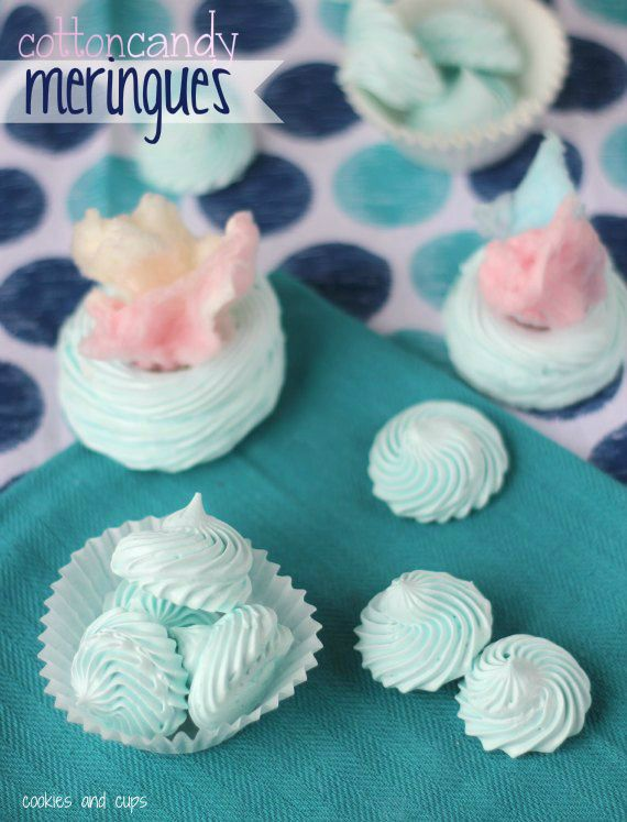 Cotton Candy meringues: Fun Recipes, Flavored Meringue Cookies, Food, Meringue Cookies Recipes, Cottoncandi, Candy Meringue, U.S. States, Favorite Recipes, Cotton Candy Cookies