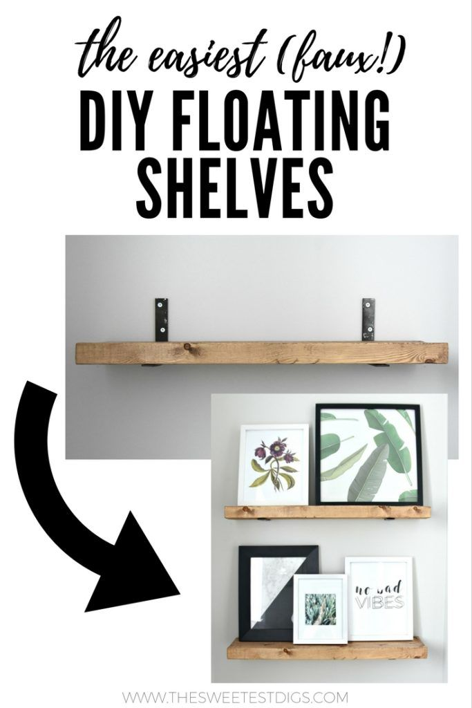 Want to make the easiest DIY floating shelves? Head over for this tutorial and w…   – bed idea