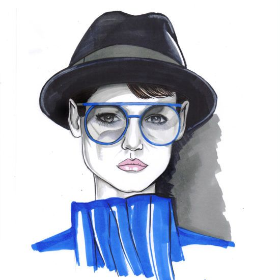 #fashion #illustration #style #hat #sunglasses