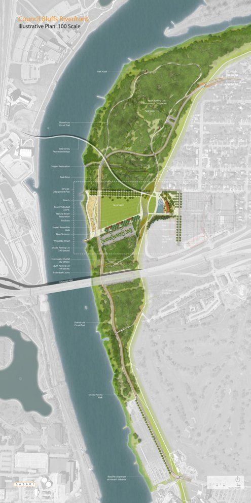 Pictures - Council Bluffs Riverfront Master Plan - Master plan - Architizer