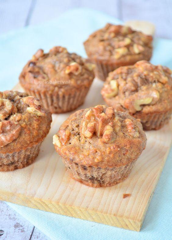 Oatmeal banana muffins - Havermout muffins met banaan - Laura's Bakery