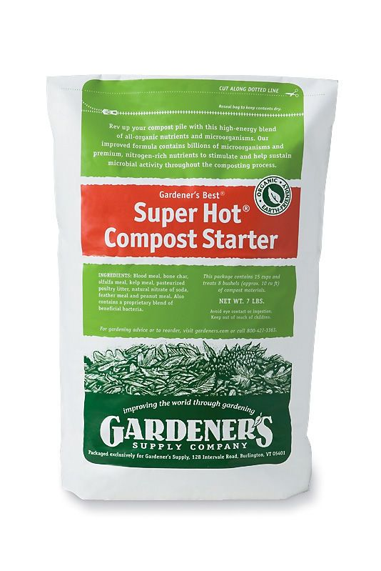 Compost amendments to improve its diversity--  Super Hot® Compost Starter