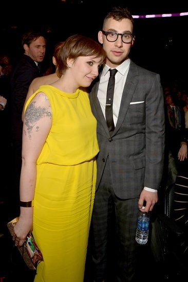 How adorable are Lena Dunham and Jack Antonoff at the #Grammys?!