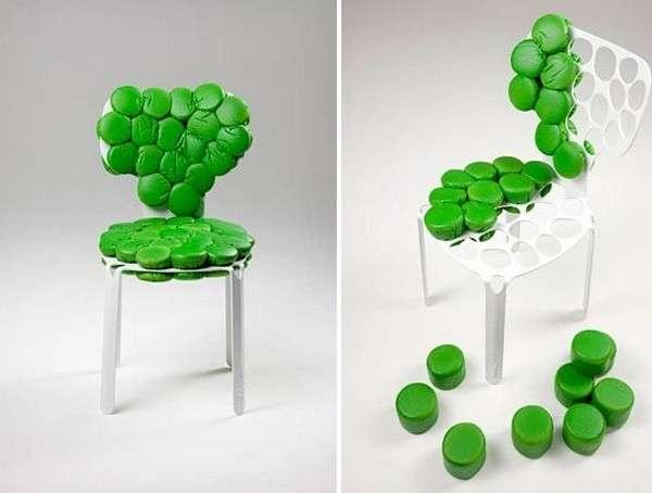 Промышленный дизайн: bOne Chair: и необычный стул, и развлечение мозаика