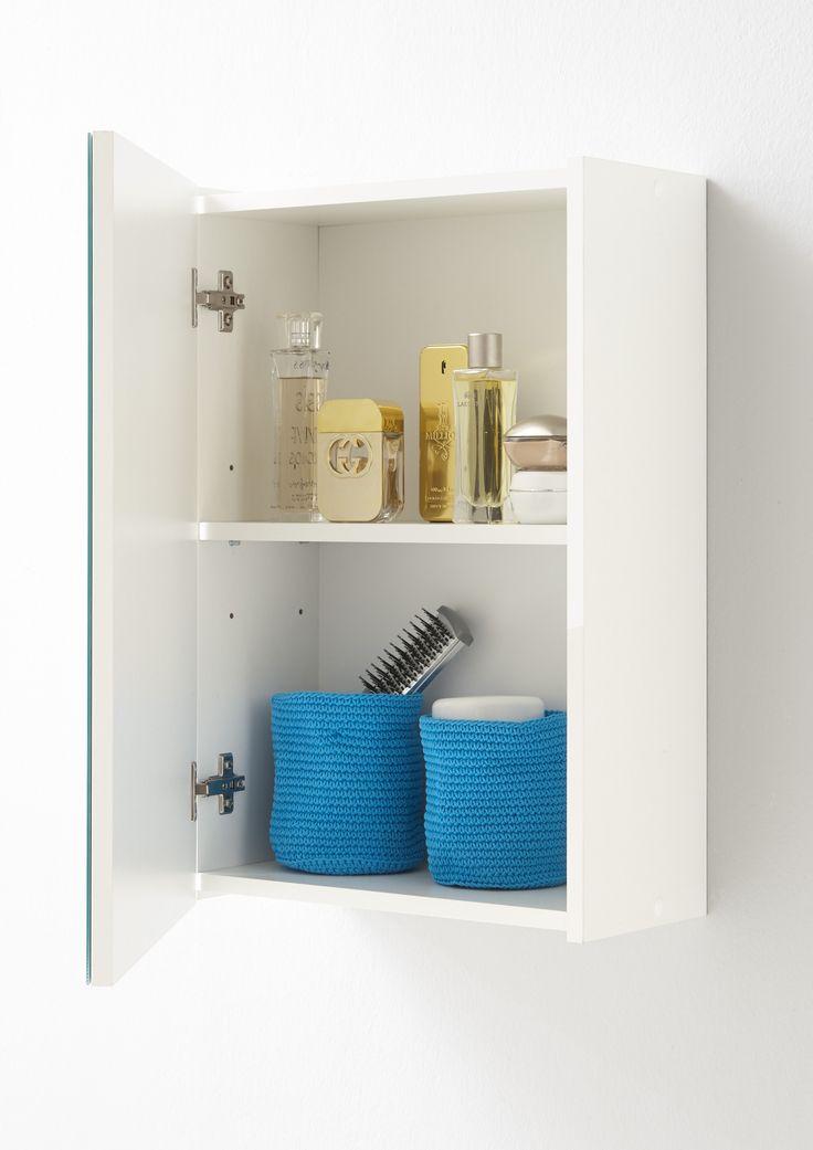Un véritable must-have dans la salle de bains: l'armoire de toilette Elda avec miroir
