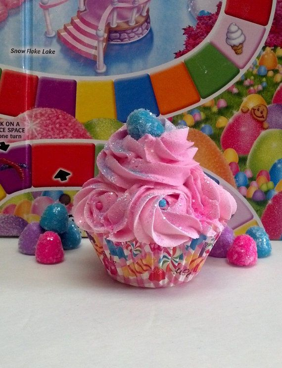 Aqua Gumdrop Fake Cupcake Photo Props Candy Sprinkles Birthday Party Decor #FakeCupcakeCreations
