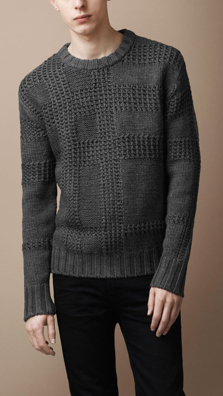 Textured Check Merino Sweater | Burberry