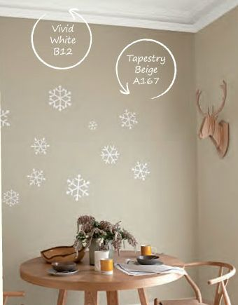 Dulux tapestry beige and vivid white colour scheme