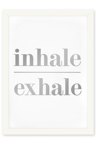 Buy Inhale Exhale Framed Print from the Next UK online shop