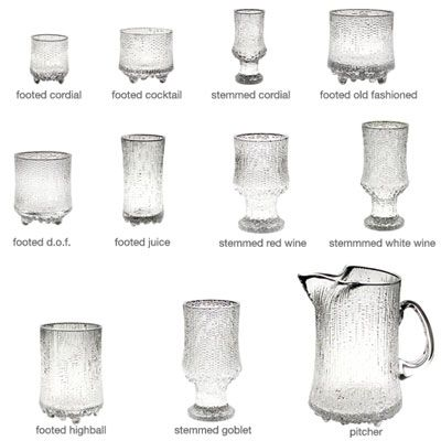IITTALA ULTIMA THULE FOOTED HIGHBALL, SET OF 2