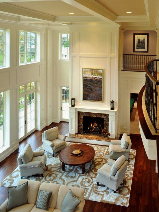 25 best ideas about two story fireplace on pinterest - Does a living room need a fireplace ...