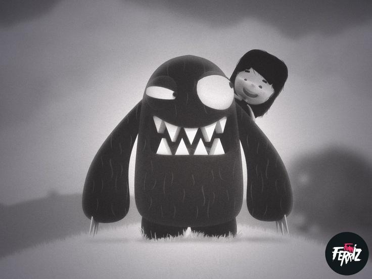 Monster and girl