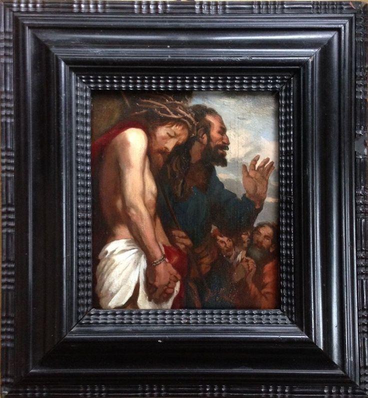 Josef Andreas Sailer, München  Christus vor Pontius Pilatus  von 1912 Öl / Holz