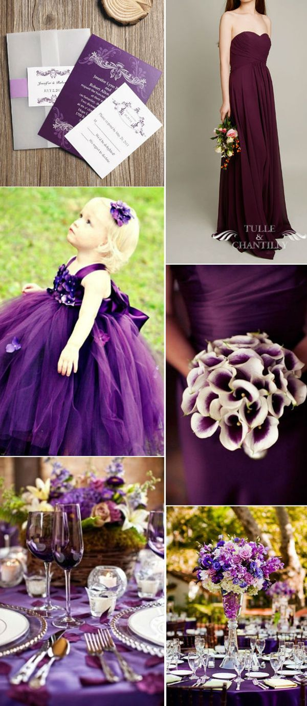 beautiful dark purple wedding ideas for stylish brides