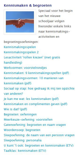 Lesidee kennismakenhttp://www.kennisnet.nl/sectoren/mbo/educatie/lesmateriaal/lesmateriaal-vaardigheden/