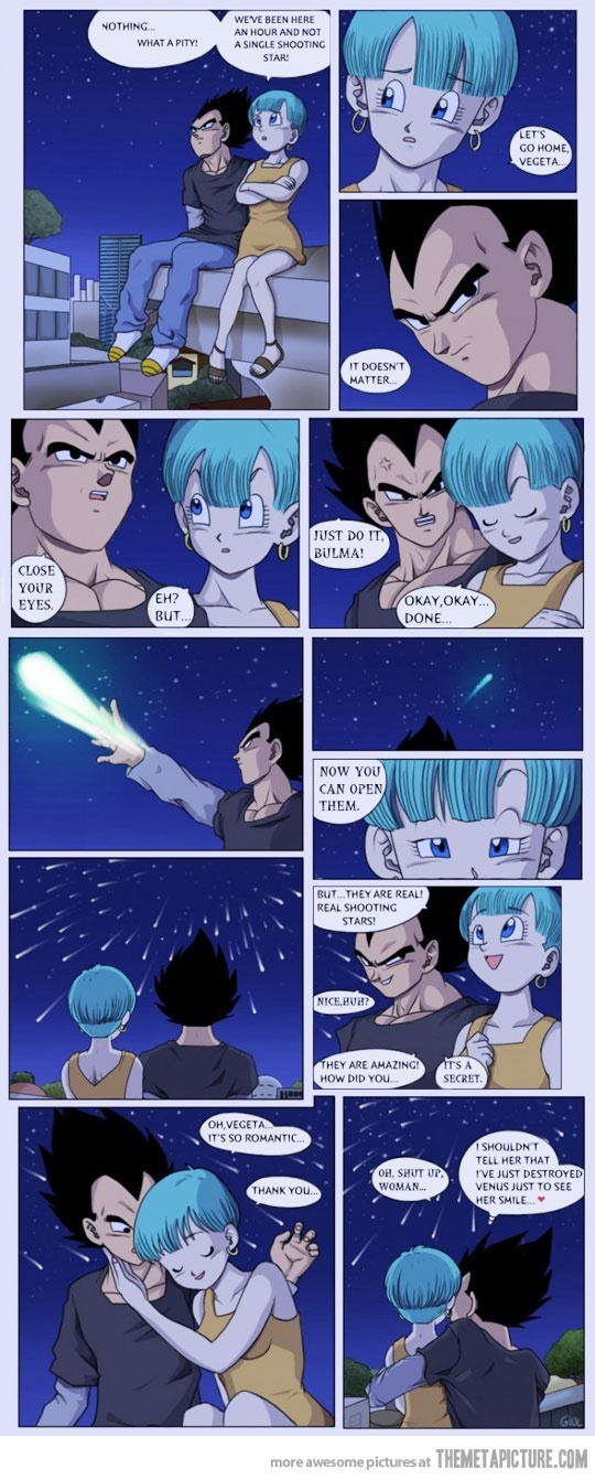 Vegeta and Bulma Romance