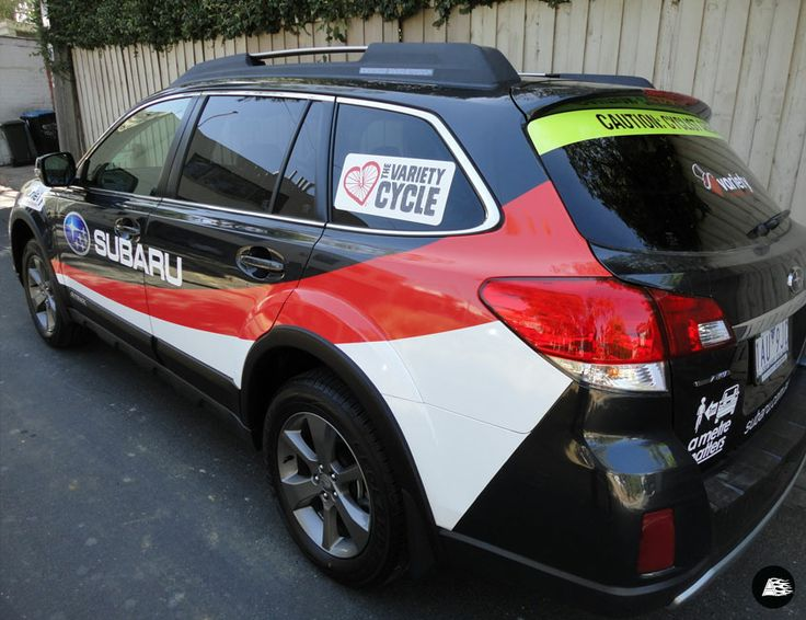 Cycling Event Sponsorship, Subaru Active, Vehicle Decals, Charity Event