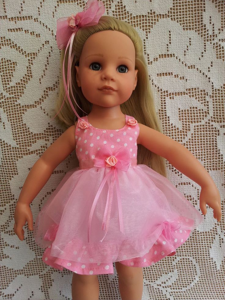 SalStuff, Pink Tutu Party Dress, Organza, Polka Gotz Designafriend Doll Clothes