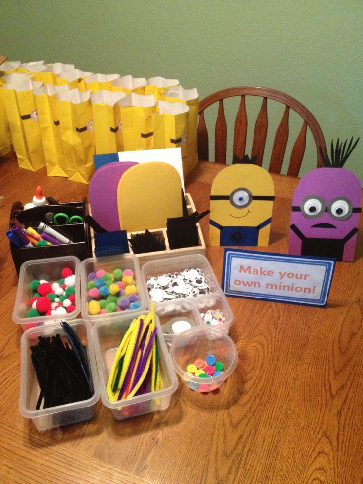 Make your own minion station, minion birthday party