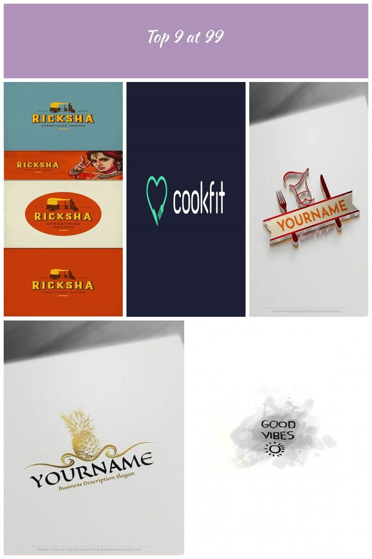 Top 9 logo and brand identity designs for January 2017. Concept by spoonlancer f…
