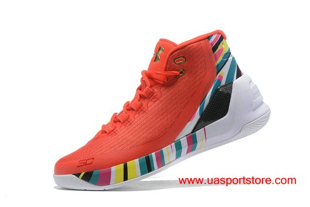 Under Armour Curry 3 UA Chinese New Year Aluminum Basketball Shoes For Men