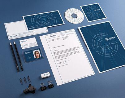 «Страта» — инжиниринговая компания. За основу знака был взять предмет, которым может служить символом инженера — циркуль и первая буква названия компании. Вдохновением для стиля послужили синие чертежи — блупринты. Над проектом работалиАрт-директор и д…