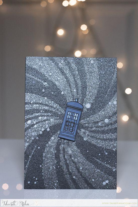 Doctor Who Tardis card by Taheerah Atchia! Newton Dreams of London Stamp set by Newton's Nook Designs #newtonsnook #drwho
