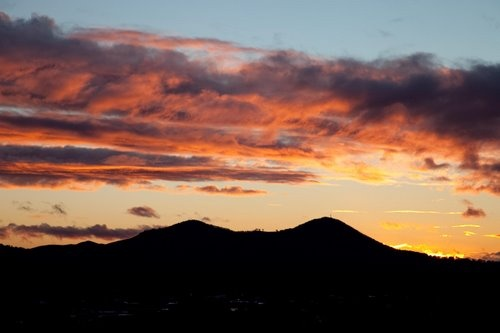 Hiked to the top of the Paps - Mansfield - Sunset over The Paps