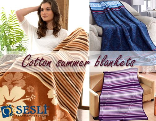 Cool and light-weight 100% cotton summer blankets. Ideal for afternoon naps or cooler summer nights. Available in an array of vibrant colours and patterns. Single or Double size. http://sesli.co.za/index.php/summer-blankets