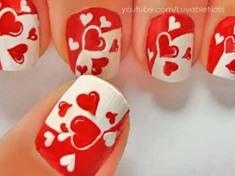 JUST HEARTS nail art