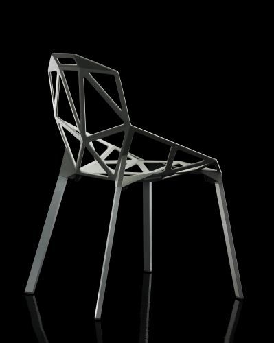Chair_ONE by Konstantin Grcic Industrial Design is cast aluminium.