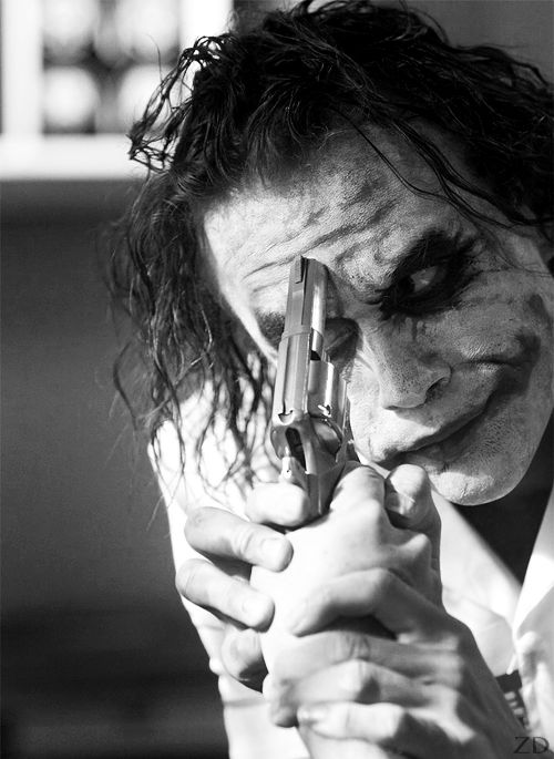 """Heath Ledger (Joker)-""""Upset the established order and everything becomes chaos. I'm an agent of chaos. Oh, and you know the thing about chaos? It's fair!"""""""