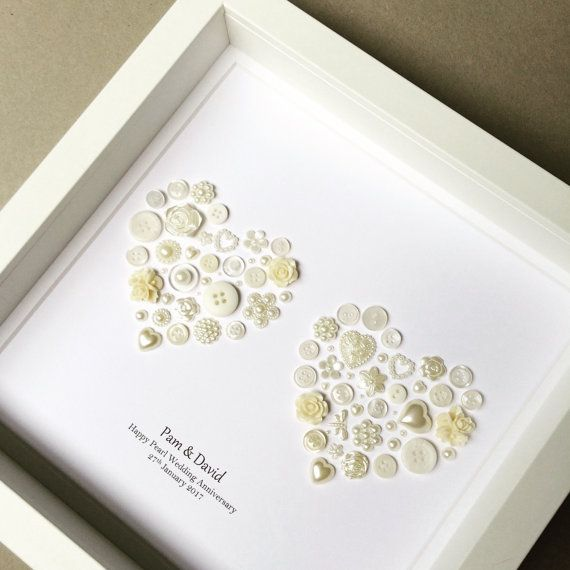 30th Wedding Anniversary Pearl Wedding Pearl by ButtonArtbySophie