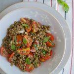 Insalata di lenticchie e pomodorini fredda