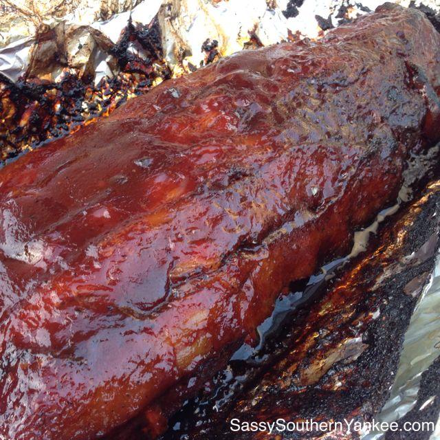 Finger Licking BBQ Rib Rub Recipe with Applewood Smoked Babyback Smoked Ribs ~ Sassy Southern Yankee