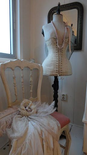 French dress form with corset