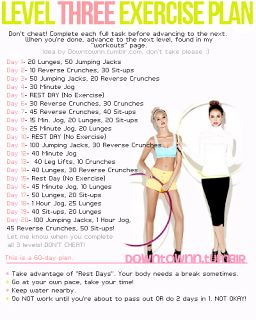 Work out routine Level 3