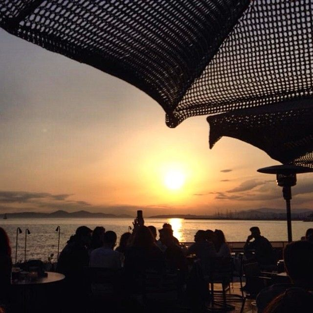 #alimos #sea #sunset