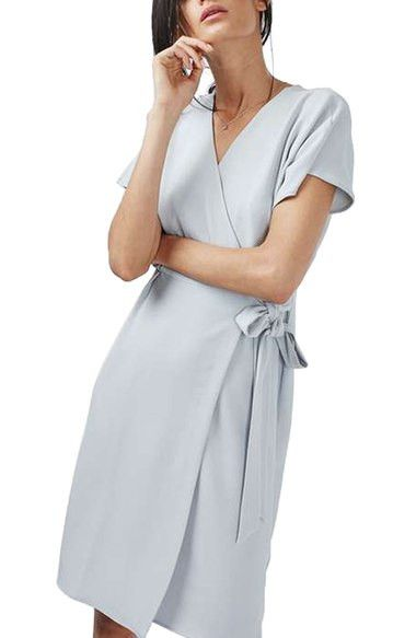 Crepe Wrap Midi Dress (Petite)