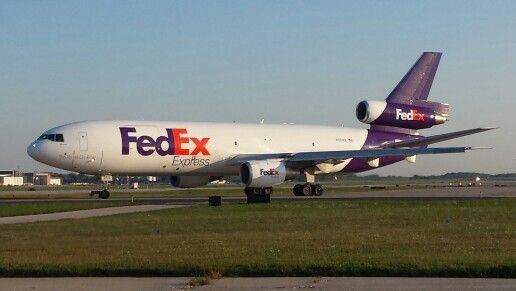 Former United Airlines DC-10, now flying for FedEx Express, prepares to leave Milwaukee en route to Chicago.