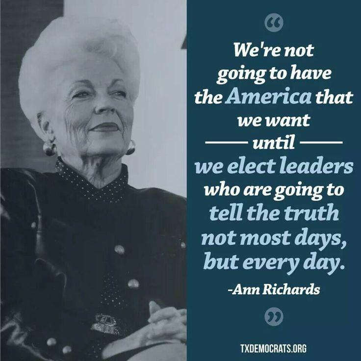 Ann Richards on honesty