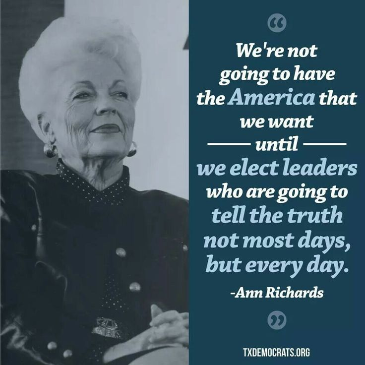 Ann Richards on honesty