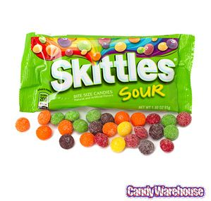 Sour Skittles Candy 1.8-Ounce Packs: 24-Piece Box